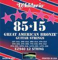 D'Addario American Bronze Acoustic Strings 85/15
