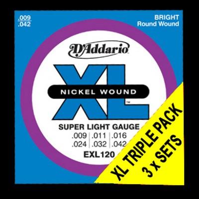 EXL120 Super Lt Triple Packs