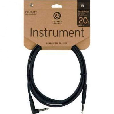 Planet Waves PW-CGTRA-20 Classic Series Cable, 20ft (Straight-Angled)