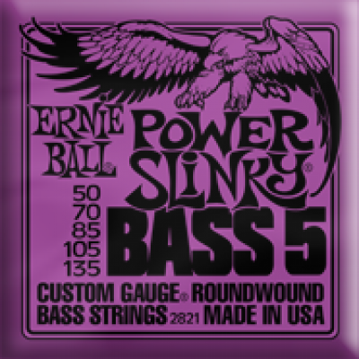 Power Slinky 5-string Bass Nickel Wound  50-135