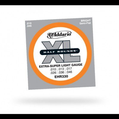 D'Addario EHR330 Half Rounds Extra Super Light