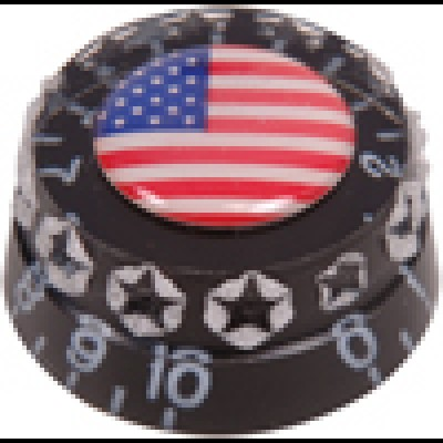 Guitar Tech Speed Knob. Black Stars/Stripes GT653