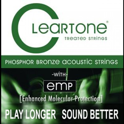 Cleartone Coated Acoustic Bronze 80/20 Strings 12-53