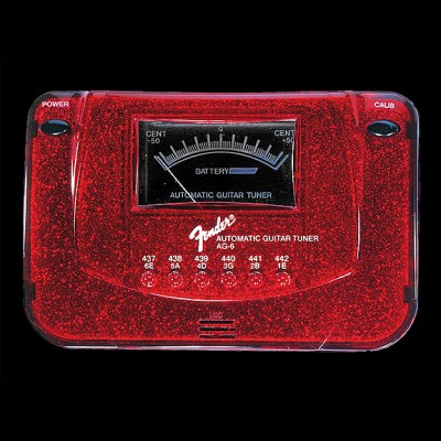 Fender AG6 Guitar and Bass Tuner Red Sparkle