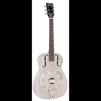 Vintage AMG1 Resonator Acoustic Guitar, Chrome