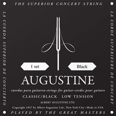 Augustine Black Label Classical Guitar Strings - Light Tension