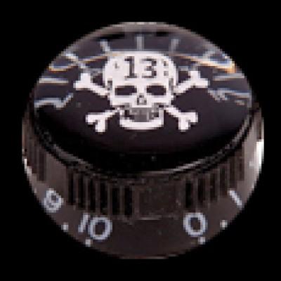 guitar Tech Control Knob Skull & Xbones (Black) GT651