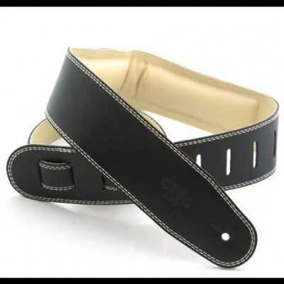 DSL Strap Leather, Leather Backing 2.5 inch Black / Beige