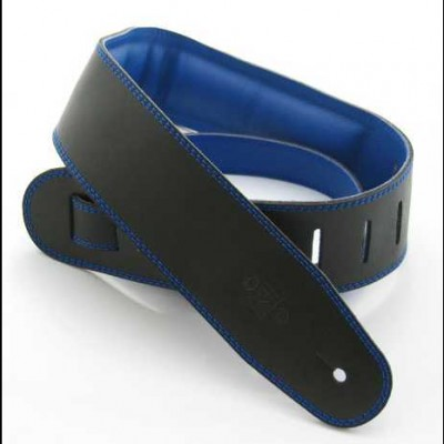 DSL Strap Leather, Leather Backing 2.5 inch Black / Blue