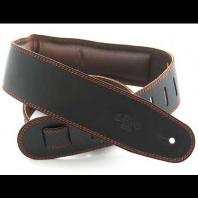 DSL Strap Leather with Leather Backing 2.5 inch -Black/Brown