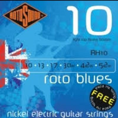 RH10 Blues Nickel Electric Strings, Light Top, Heavy Bottom 10-52