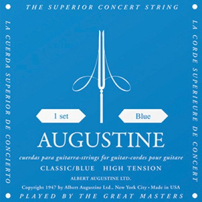 Augustine Blue Label Classical Guitar Strings - High Tension