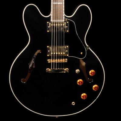 VSA 555 Semi Acoustic Guitar, Ebony