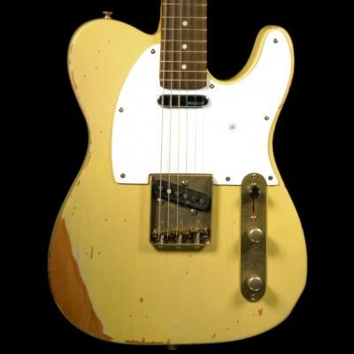 Vintage V62 Electric Guitar, Distressed Ash Blonde