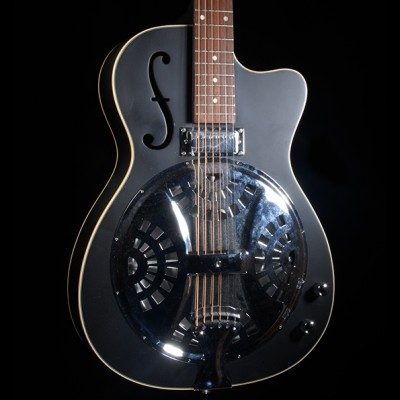 Vintage VRC800BK Resonator Guitar