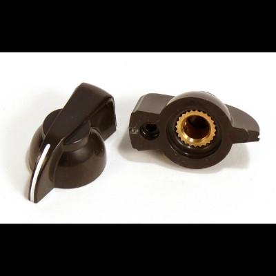 Chicken Head Knob with Brass Insert (Brown)