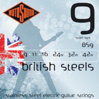 Rotosound BS9 British Steels 9-42 Gauge Electric Guitar Strings