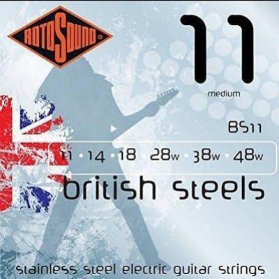 Rotosound BS11 British Steels 11-48 Gauge Electric Guitar Strings