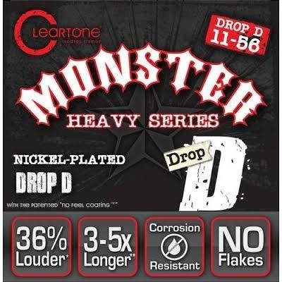 Cleartone 9456 Monster Heavy Series Drop D 11-56 NPS Electric Guitar Strings