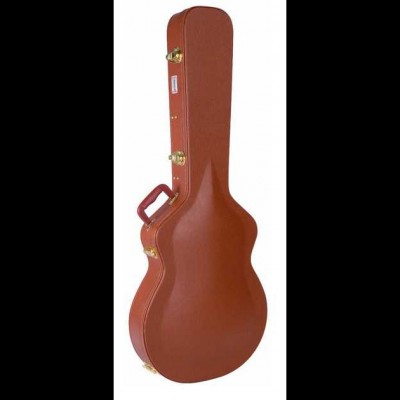 Kinsman LP Shaped Hardshell Guitar Case (Brown) CLP7