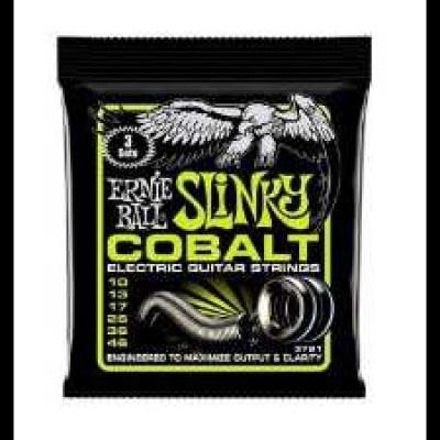 Ernie Ball 3 Pack Cobalt Guitar Strings Regular Slinky (10-46)