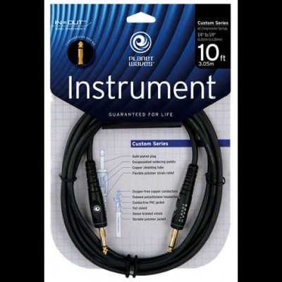 Planet Waves Compression Spring Mono Leads