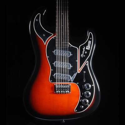 Burns Double Six 12 String with Case (Redburst)