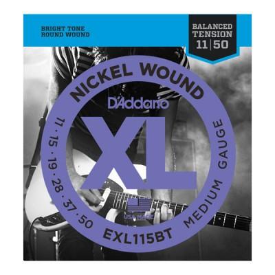 D'Addario EXL115BT Nickel Wound, Balanced Tension Medium, 11-50