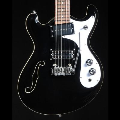 Danelectro 66 Guitar in Gloss Black