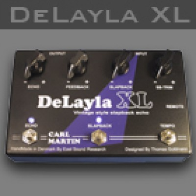 The Carl Martin DeLayla XL   is designed and developed with one goal in mind: To create a superior echo pedal, with the same sonic quality as the original DeLayla but with new extended features, yet incorporating some of the same features used in vintage