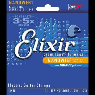 Elixir Nanoweb Electric 12 String Light (E12450)