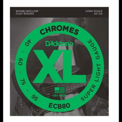 Daddario ECB80 Chromes Bass, Light, 40-95, Long Scale