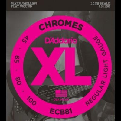 Daddario ECB81 Chromes Bass, Light, 45-100, Long Scale