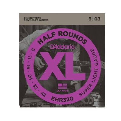 Daddario EHR320 Half Rounds Super Light 9-42