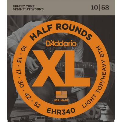 Daddario EHR340 Half Rounds Light Top/Heavy Bottom 10-52