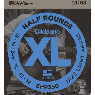 Daddario EHR350 Half Rounds Jazz Light 12-52