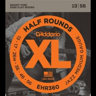 D'Addario EHR350 Half Rounds Jazz Light 12-52