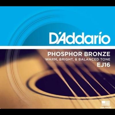 D'Addario EJ16-3D 3 Pack Phosphor Bronze Light 12-53