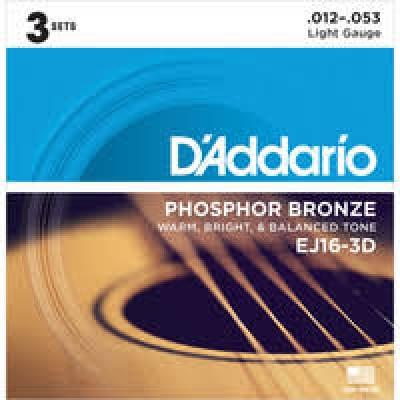 D'Addario EJ16 (12-53) 3-pack