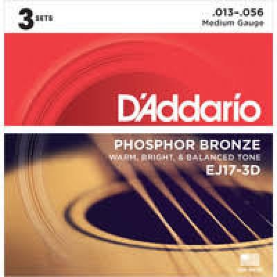 D'Addario  EJ17-3D Phosphor Bronze 13-56