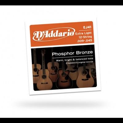 Daddario EJ41 Extra Light12-String 9-45