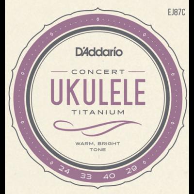 Daddario EJ87C Titanium Ukulele, Concert
