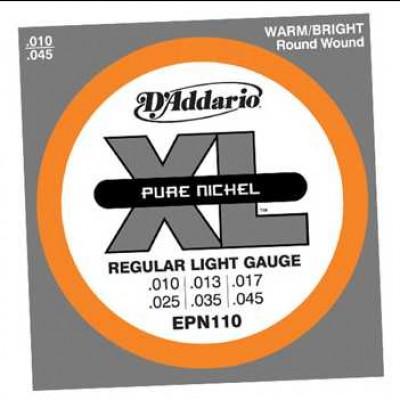 D'Addario XL Pure Nickel EPN 10 - 45