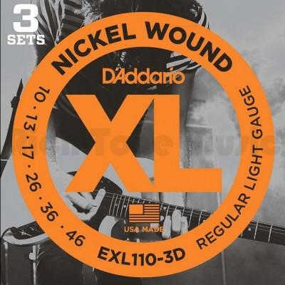 D'Addario EXL110 Regular Triple Packs