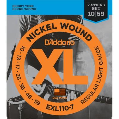 Daddario EXL110-7 Regular Light 7-String 10-59