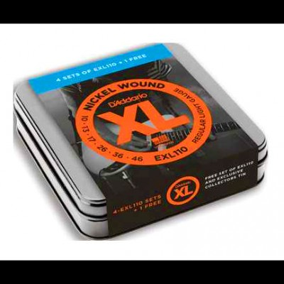 Daddario EXL110 Tin Pack (5 Sets) Ltd Edition