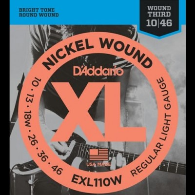 D'addario  EXL110W Regular/Wound Third (10-46)