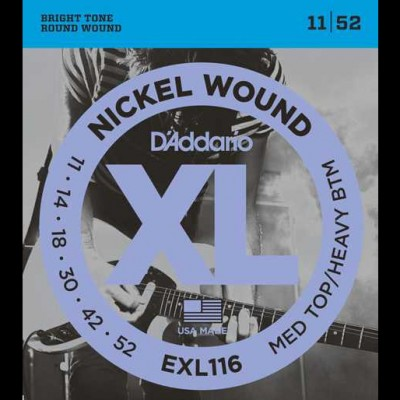 D'Addario EXL116 Electric Guitar Strings - Med/Heavy 11-52
