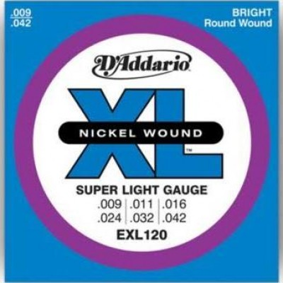 D'Addario  EXL120 XL Nickel Super LT 9 - 42