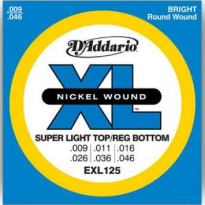 D'Addario EXL125 Electric Guitar Strings, Light/Regular 9 - 46